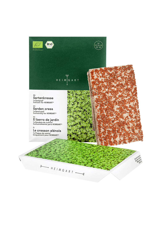 Gartenkresse Saatpads - Bio Saatgut von Heimgart