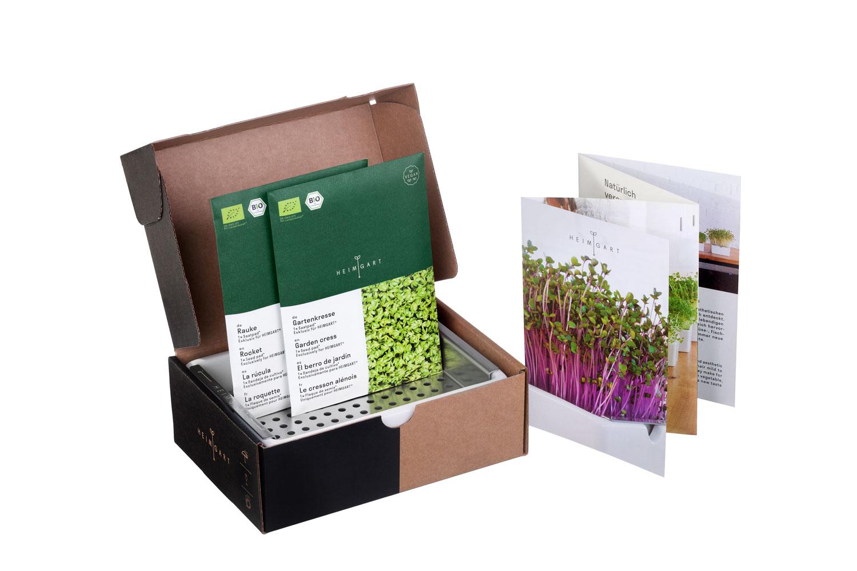 Heimgart Starterkit für Microgreens mit Keimschale & Saatpads