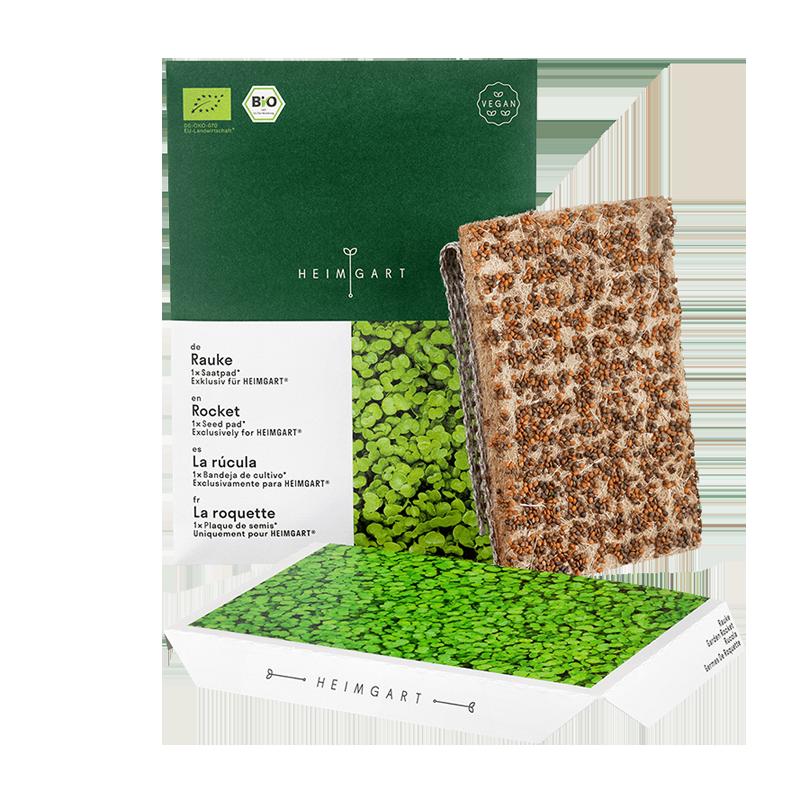 Rocket microgreens seed pads