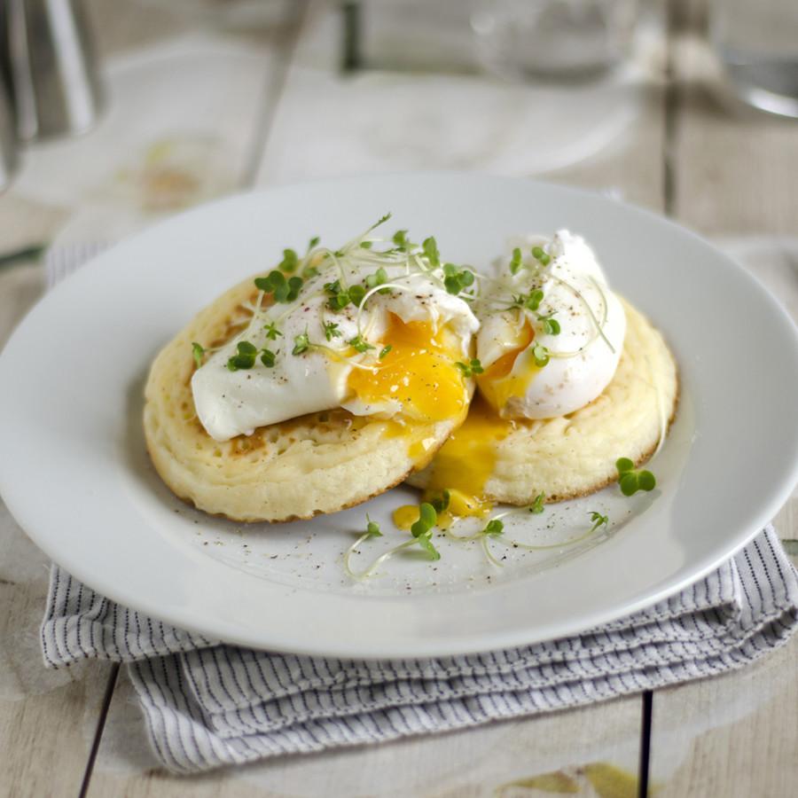 pancakes microgreens