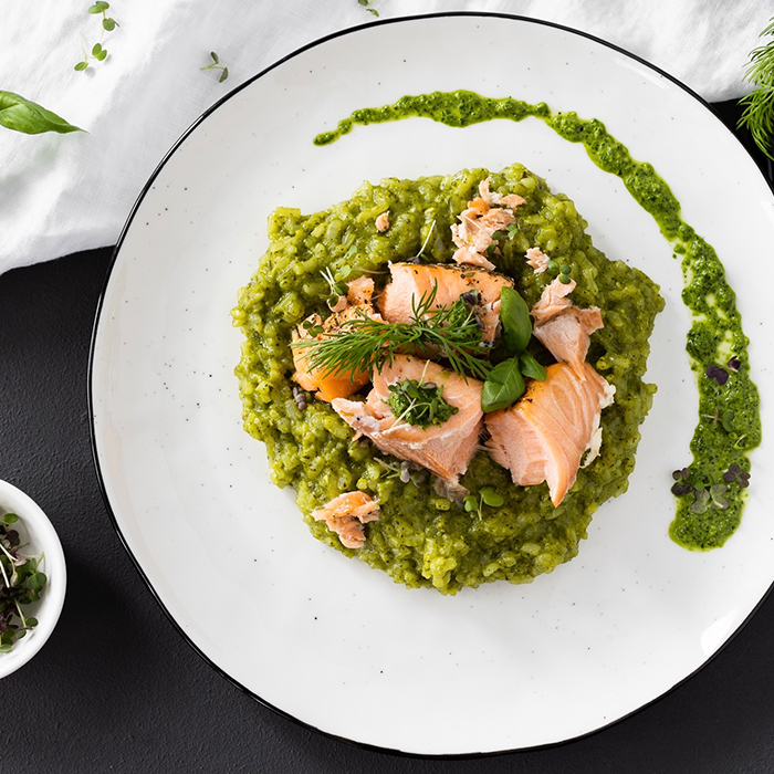 risotto mit microgreens-pesto